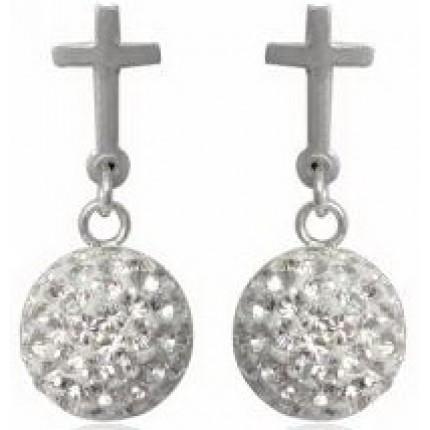 Серьги TN895 Серебро 925 Swarovski Crystals