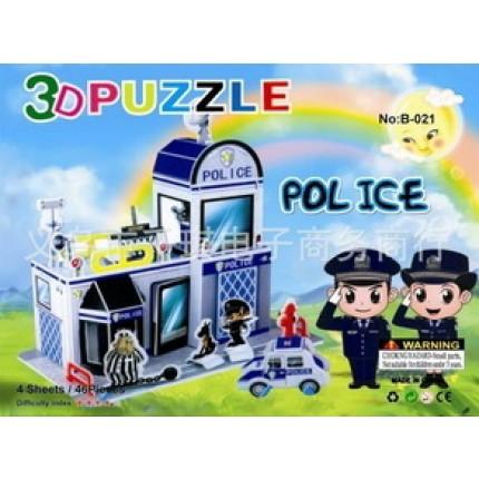 Набор для творчества 3D пазл - Полиция