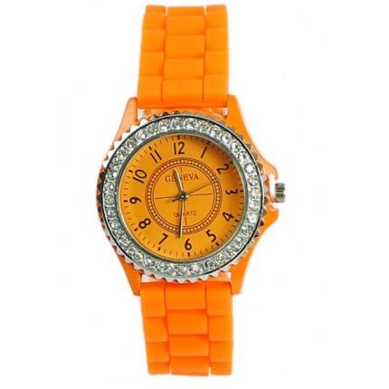Часы женские GENEVA Luxury Женева Оранжевые