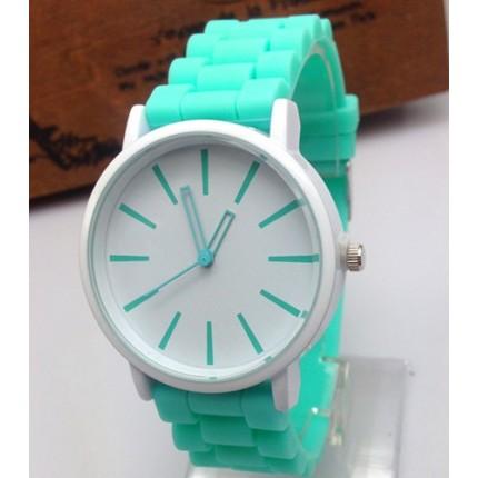 Часы Женева Кварц с силиконовым ремешком Мята