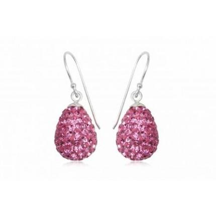 Серьги TN832. Серебро 925. Swarovski crystals