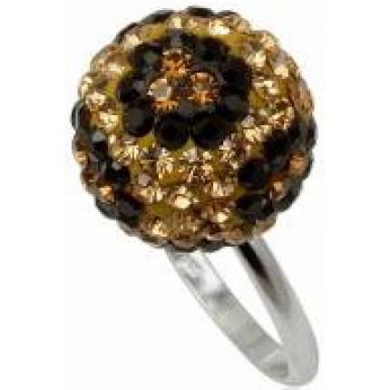 Кольцо TN770. Серебро 925. Swarovski crystals, размер 18