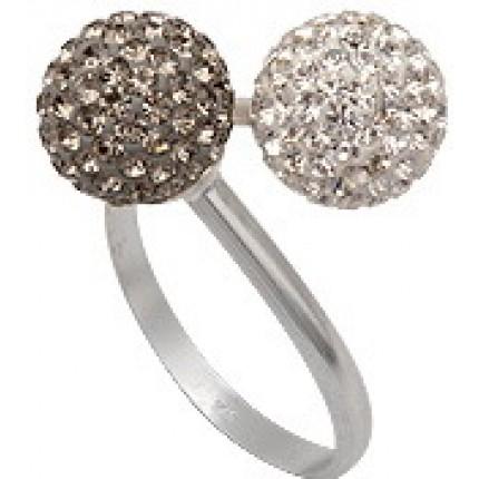 Кольцо TN761. Серебро 925. Swarovski crystals, размер 17,18