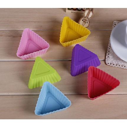 Силиконовая форма для кекса треугольник