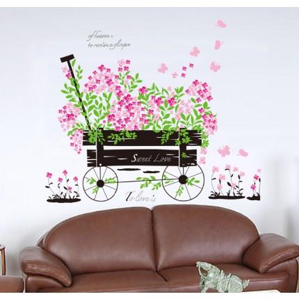Интерьерная наклейка на стену Цветы прованс AY705