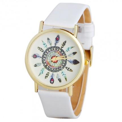 Часы наручные женские GENEVA женева Перо Белые