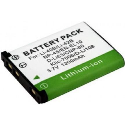 аккумулятор FNP-45, D-Li63, KLIC 7006, EN-EL10, NP-80, Li-40B & Li-42B