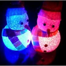 Мини светильник хамелеон Снеговик Кристалл, минисветильник