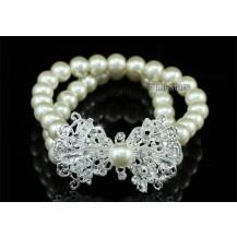 Браслет Bridal Cream Faux Pearl Bow Bracelet SSB062