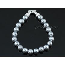 Браслет Bridal Black Shell Pearl Bracelet use Swarovski Crystal SB019