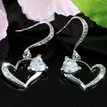 Серьги 1.5 Carat Heart Cubic Zirconia Earrings SE265
