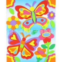 Мягкая мозаика наклейки без ножниц и клея - Бабочки