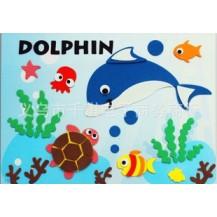 Мягкая мозаика наклейки без ножниц и клея - Дельфинарий
