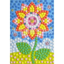 Мягкая мозаика наклейки без ножниц и клея - Цветок