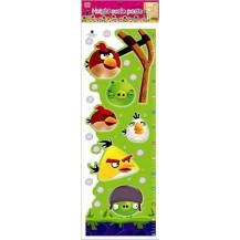 Интерьерная наклейка-ростомер Angry Birds