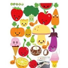 Интерьерная наклейка в детскую Овощи и Фрукты