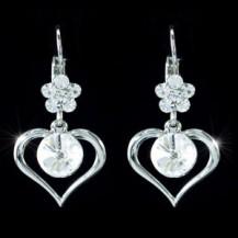 Серьги Dangle Heart 3 Carat Crystal Bling Earrings SE312