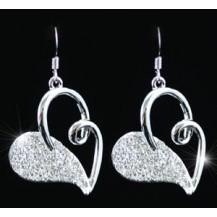 Серьги Dangling Heart Earrings use Swarovski Crystal SE180