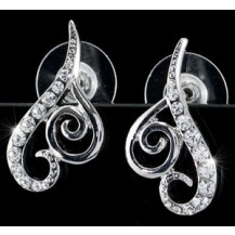 Серьги Heart Stud Earrings use Swarovski Crystal SE270