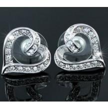 Серьги Heart Stud Earrings use Swarovski Crystal SE290