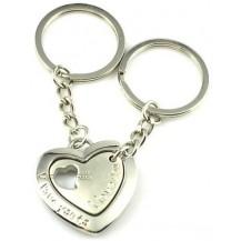 Парные брелки для влюбленных - Единое сердце