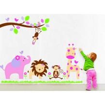 Интерьерная наклейка Веселый Зоопарк