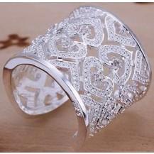 Кольцо Tiffany Размер 18 (TF35). Покрытие серебром 925