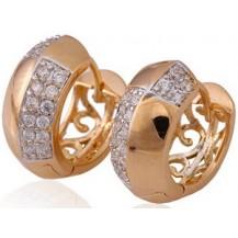 Серьги Gold Filled с цирконами (GF43)