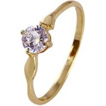 Позолоченное кольцо с цирконами, размер 17 (GF46)