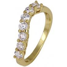 Позолоченное кольцо с цирконами, размер 18 (GF49)