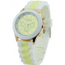 Часы наручные женские GENEVA sport Светло-лимонные