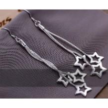 Серьги Tiffany (TF69). Покрытие серебром 925