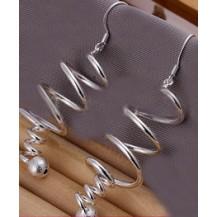 Серьги Tiffany (TF58). Покрытие серебром 925