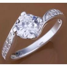 Кольцо Tiffany (TF73). Покрытие серебром 925 размер 17,18