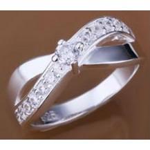 Кольцо Tiffany (TF75). Покрытие серебром 925 размер 18
