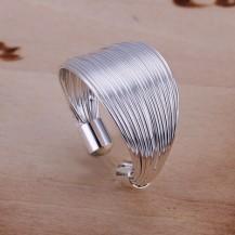 Кольцо Tiffany (TF81). Покрытие серебром 925 Все размеры