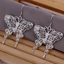 Серьги Tiffany (TF66). Покрытие серебром 925