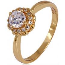 Кольцо позолота Gold Filled с цирконами (GF467) Размер 17