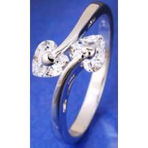 Кольцо Нежность белая позолота Gold Filled с цирконами (GF470) Размер 17