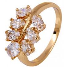 Кольцо позолота Gold Filled с цирконами (GF465) Размер 17