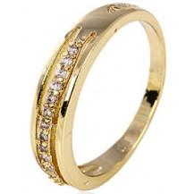 Кольцо позолота Gold Filled дорожка с цирконами (GF466) Размер 18