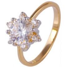 Кольцо Сияние позолота Gold Filled с цирконами (GF468) Размер 17