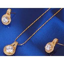 Набор позолота Gold Filled с цирконами (GF458)