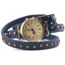 Часы длинный ремешок (синие)