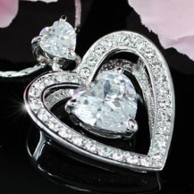 Кулон 4 Carat Heart Pendant Necklace use Swarovski Crystal SN225
