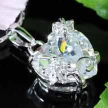 Кулон 5 Carat Heart Cut CZ Pendant Necklace SN179