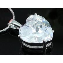 Кулон 8 Carat Heart CZ Simulated Diamond Pendant Necklace SN085