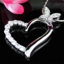Кулон Bridal / Fashion Heart CZ Pendant & Necklace SN153