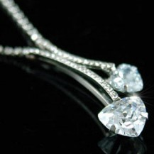 Кулон Bridal Bridesmaid Heart Necklace use Swarovski Crystal SN058