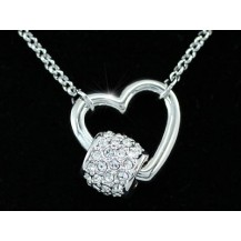 Кулон Bridal Heart Necklace use Swarovski Crystal SN253